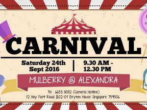 Carnival @ Mulberry Alexandra – 24 September 2016