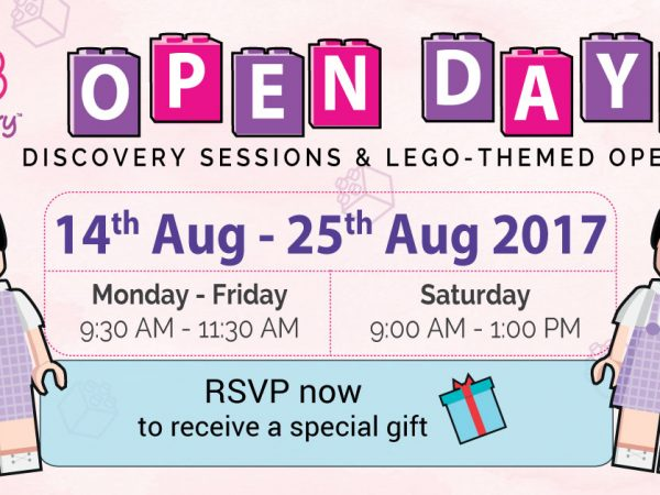Discovery Sessions & Lego-Themed Open Days