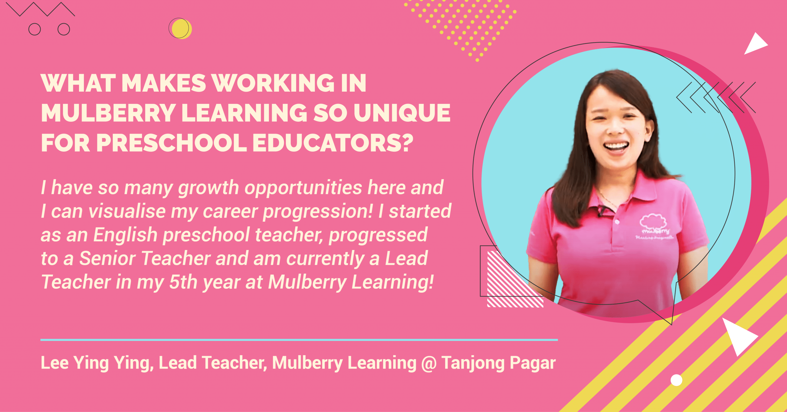 Working at Mulberry Learning, Hear what our preschool teachers say